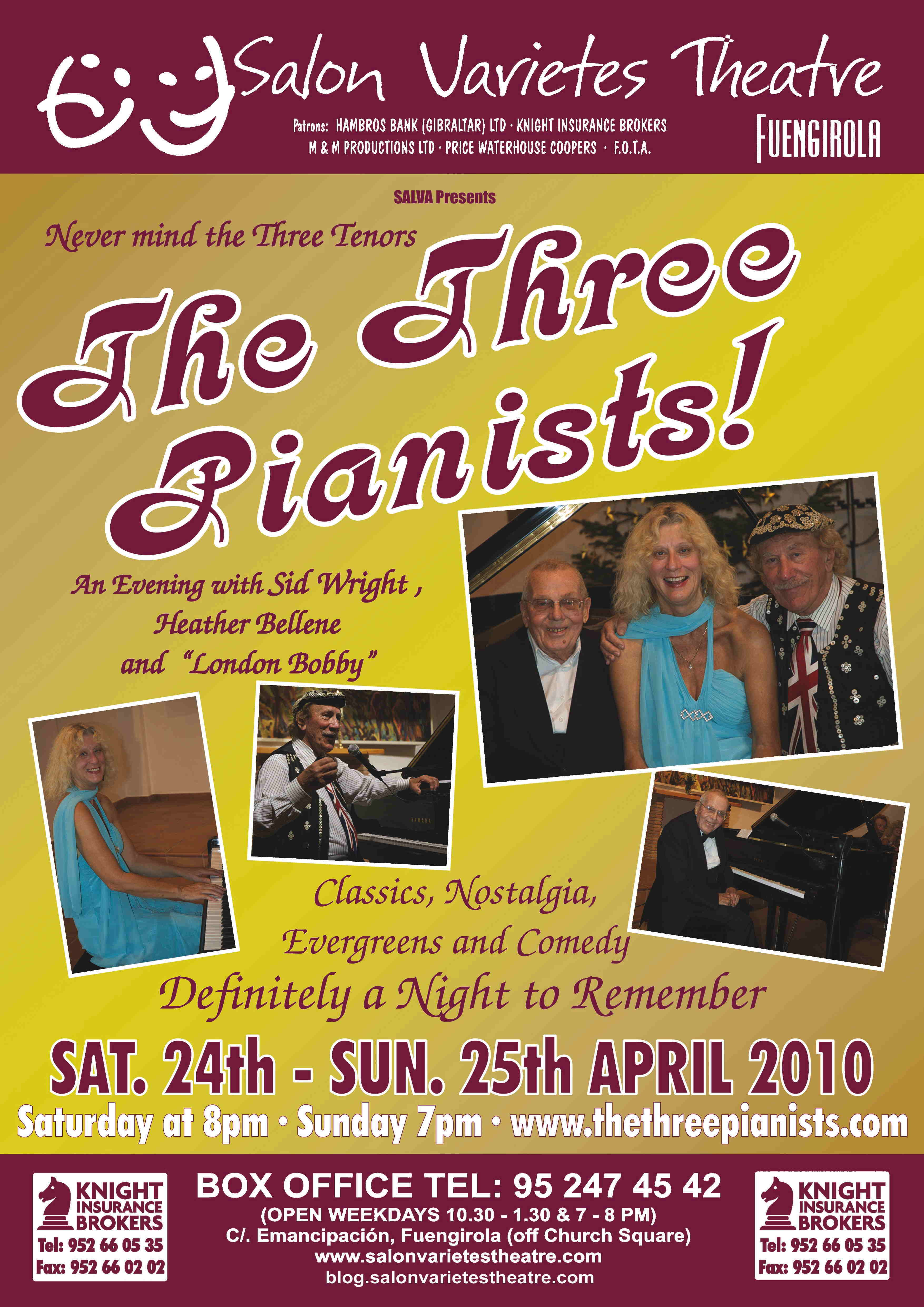 [Salon Varietes Three Pianists Poster]